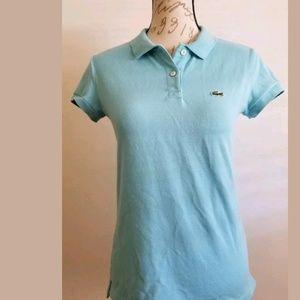 Lacoste polo shirt turquoise  blue shirt sleeve